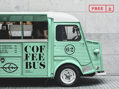 Citroen Food Truck Mockup foodtruck citroen font stationery psd mockups identity freebie free download branding typography logo mockup design