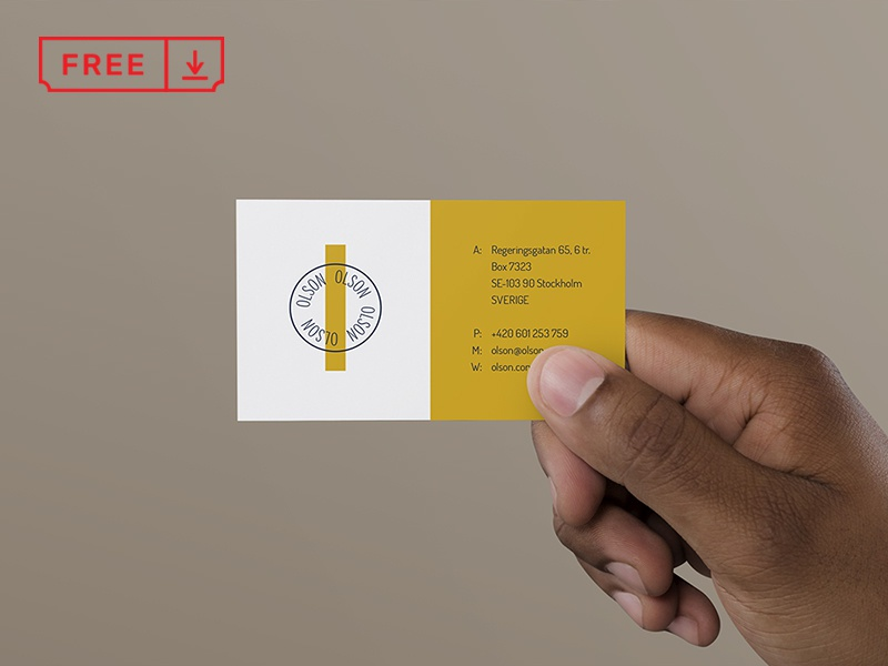 Hand Holding Business Card corporate handholding businesscard design mockup logo typography branding download free freebie identity mockups psd stationery font