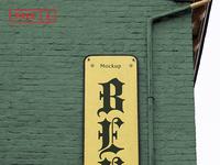 Bar Sign Mockup