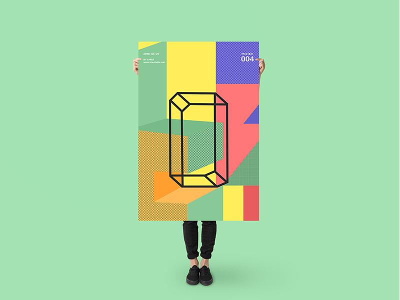 Poster PSD Mockup branding download font frame identity logo mockups print psd stationery template typography