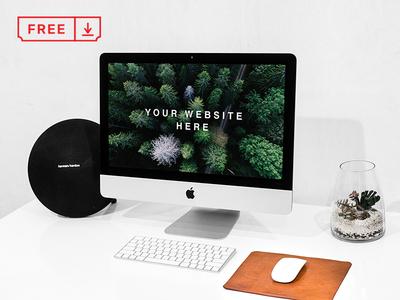 Workspace iMac PSD Mockup