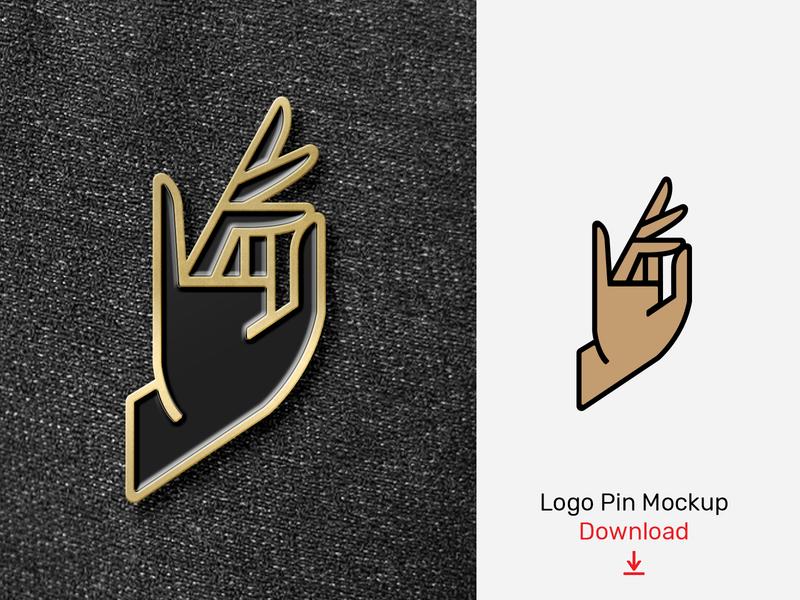 Logo Enamel Pin Mockup by Mr Mockup™ on Dribbble
