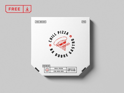 Pizza Box Mockup gastro chill pizza box pizza freebie icon bundle font template logotype typography download mockup identity psd design branding free brand