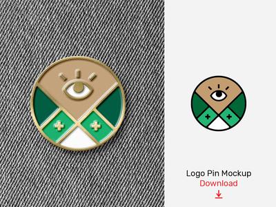 Logo Enamel Pin Mockup