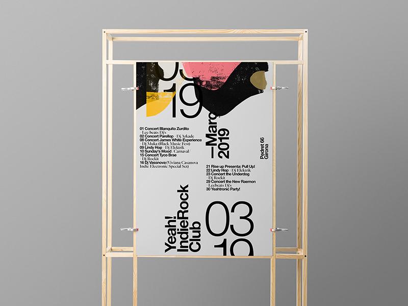 Stand Mockup - Poster typography template stationery psd print mockups logo identity frame font download branding