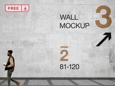 Wall PSD Mockup