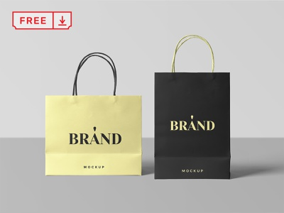 Paper Shopping Bags Mockup shopping bags paper typography stationery psd mockups identity freebie free download paperbags branding