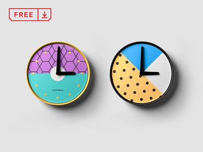 Clock Mockup design mockup free typography download mockups clock template psd identity branding
