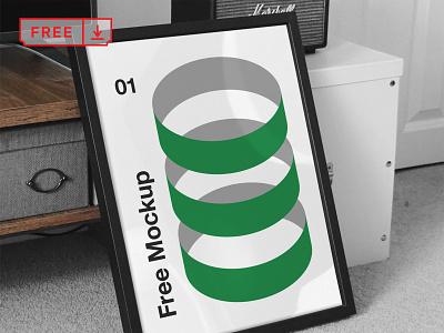 Frame PSD Mockup font print mockups template free psd frame design logo illustration download