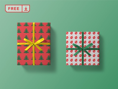 Christmas Box Mockup christmas box identity stationery print logo design template mockup free psd download