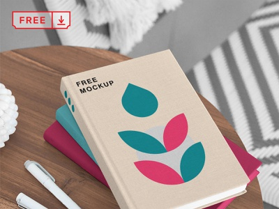 Book PSD Mockups book illustration mockup logo print font template psd download identity freebies free