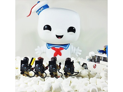 Cross the streams! ideas toy photography photography marshmallow ghostbusters funko lego