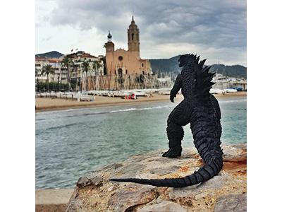 Sitges Film Fest Gojira toy photography fantastic film fest photography instagram bandai monster figuarts sitges godzilla gojira