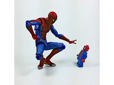 Spider Rookie toy photography instagram photography figma minifigure lego marvel spider-man