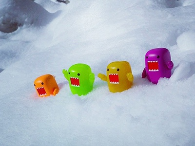 Domo Snow toy photography domo qee domo kun instagram photography snow domo