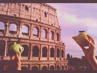 Angry Birds in Rome toy photography angry birds instagram photography colosseo rome