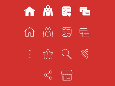 Icons solid shallow icons