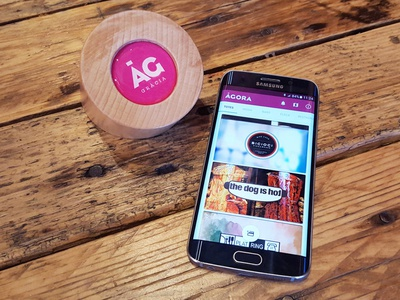 Agora Gracia NFC Base & mobile app product material design mobile ux ui