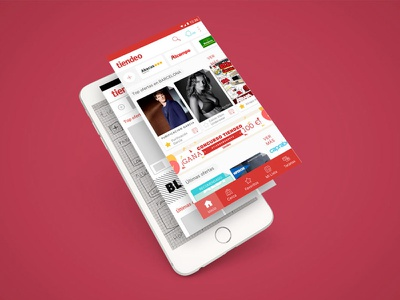 Tiendeo mock-up interaction. transition material design mobile ux ui