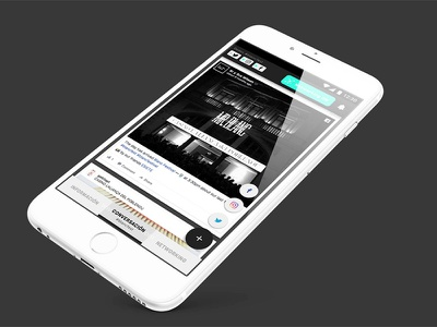 Blanc Connect mock up interaction. transition material design mobile ux ui