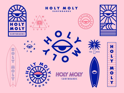 Holy Moly Surfboards Brand Identity
