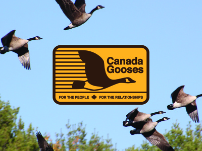 Letterkenney - Canada Gooses letterkenney canada goose geese goose canada vector brand identity design logo design badge design design badge branding design logo branding illustration
