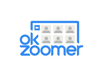 OK Zoomer ok boomer ok zoomer boomer zoomer zoom icon badge vector logo design typography logo design branding design branding illustration