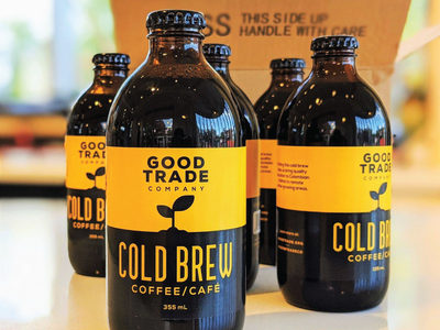 Cold Brew Label for Good Trade Co. (Calgary, AB) label packaging bottle label label design packaging cold brew packaging design coffee label coffee