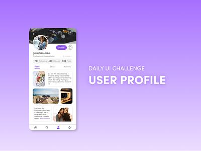 Daily UI 006 - User Profile mobileappdesign figma dailyui application mobile design mobile ui design