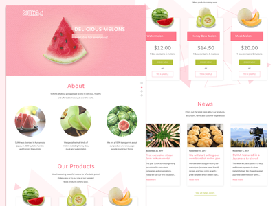 SUIKA Webdesign ui design web ui web design landing page product page ui web melons fruit product watermelon