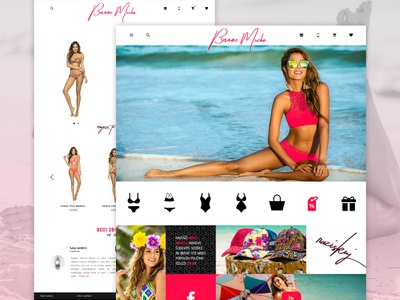 Besa Memucho - Swimsuits website webdesign ui ux shop web reponsive ecommerce armdesign design besamemucho swimsuits