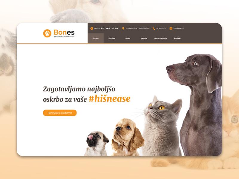 Bones - Pet Ambulance dog care webdesign website doctor veterinarian animals vet www best web responsive