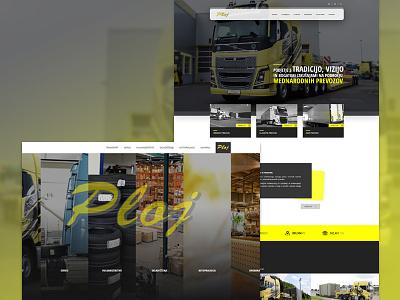 PLOJ - transport & logistic web website logistic transport homepage brand reponsive