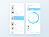 Fitness app - workout list