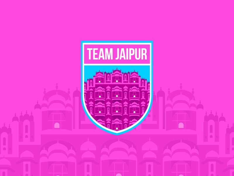 Jaipur City pink city logo india jaipur creative  design adobe design icon minimalism logo branding illustration vector