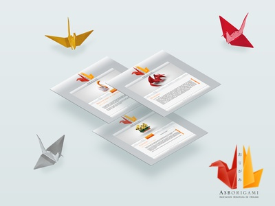 AsbOrigami logo web design origami