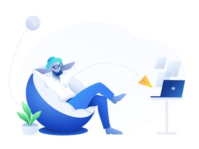 Leisure time illustrations ux ui