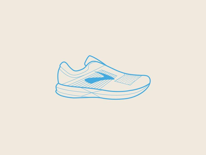 Brooks Running Levitate Icon illustration footwear profile adidas nike silhouette icon shoe run sports running brooks