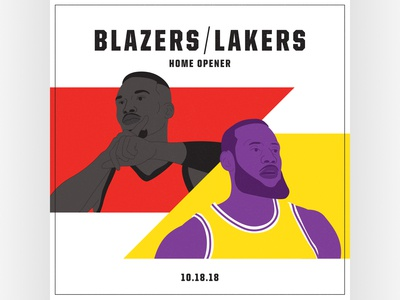 Blazers Home Opener Graphic