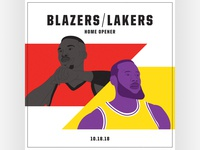 Blazers Home Opener Graphic