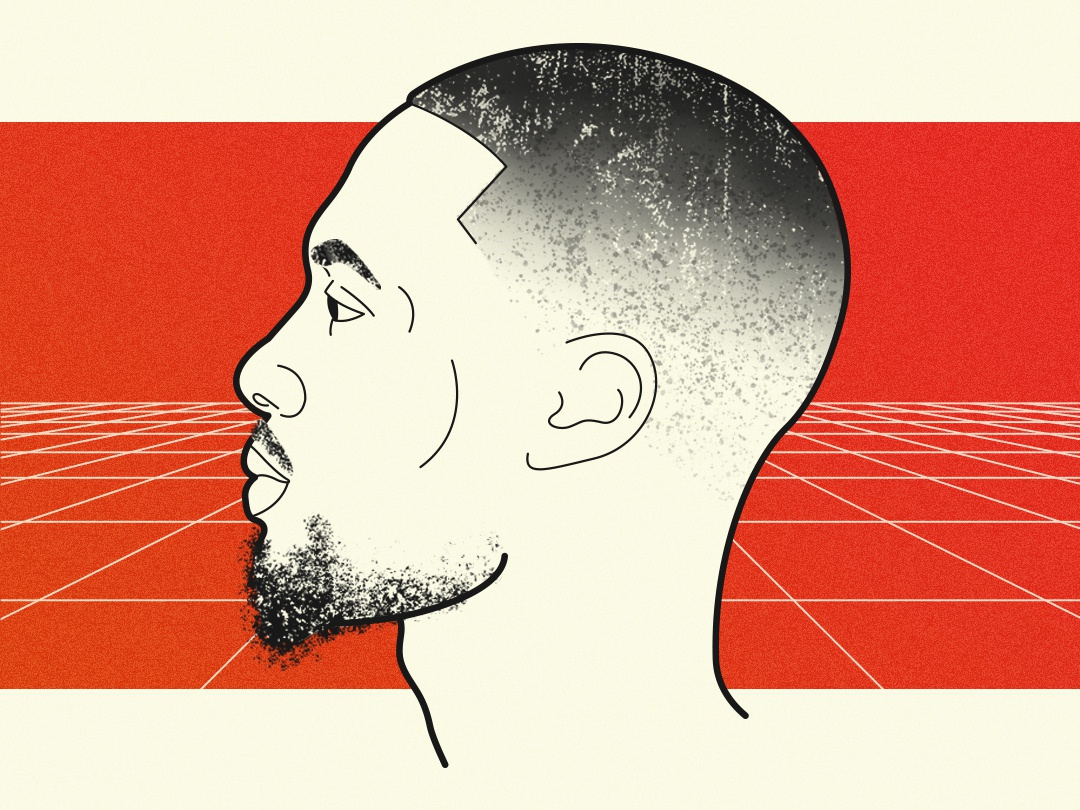 Damian Lillard social media illustration brushes ball sports portland head profile ripcity trail blazers nba hoops basketball damian lillard