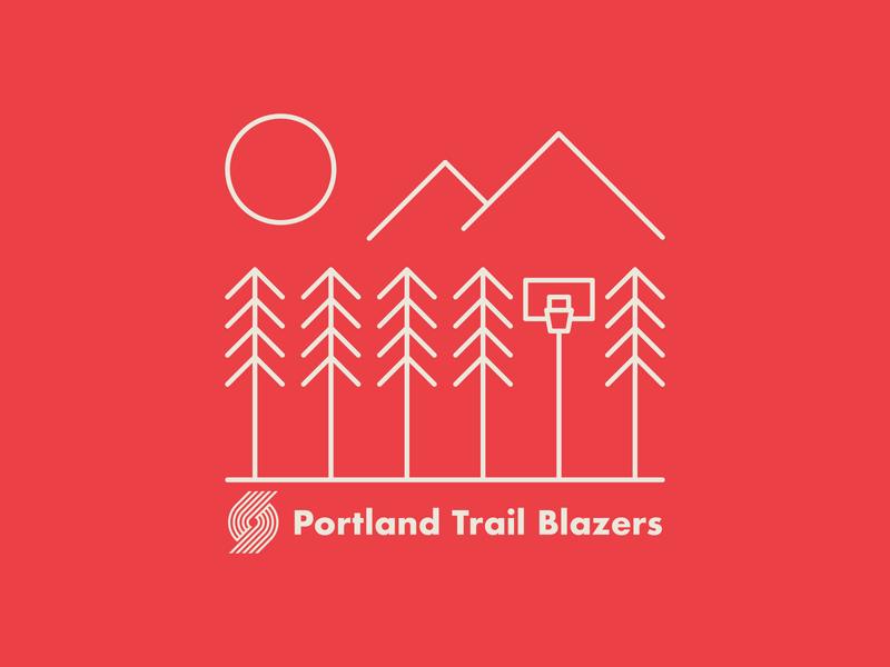 Portland Trail Blazers x Northwest 1 illustration nature pnw northwest trees mug camping outdoors ripcity nba hoops ball sports basketball blazers trail blazers portland