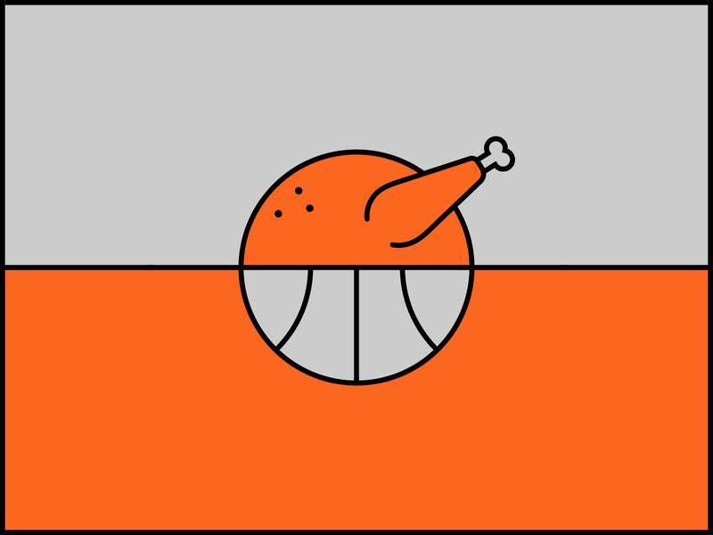Turkey Basket Ball illustration bird icon sports dinner food meat thanksgiving turkey nba hoops ball basketball