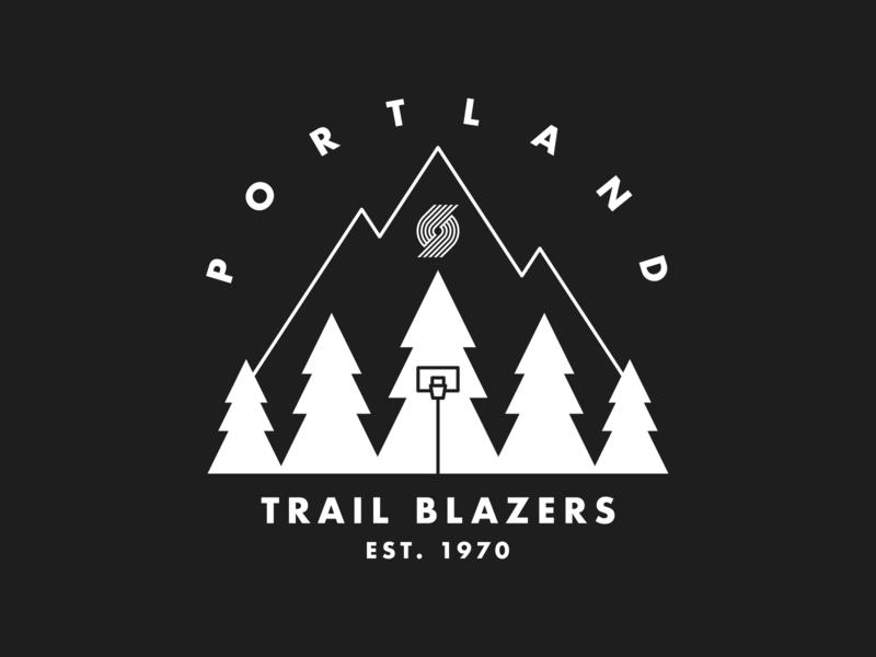 Portland Trail Blazers x Northwest 2 illustration ripcity oregon mountain trees 1970 pnw northwest outdoors camping mug trail blazers portland ball sports hoops nba basketball