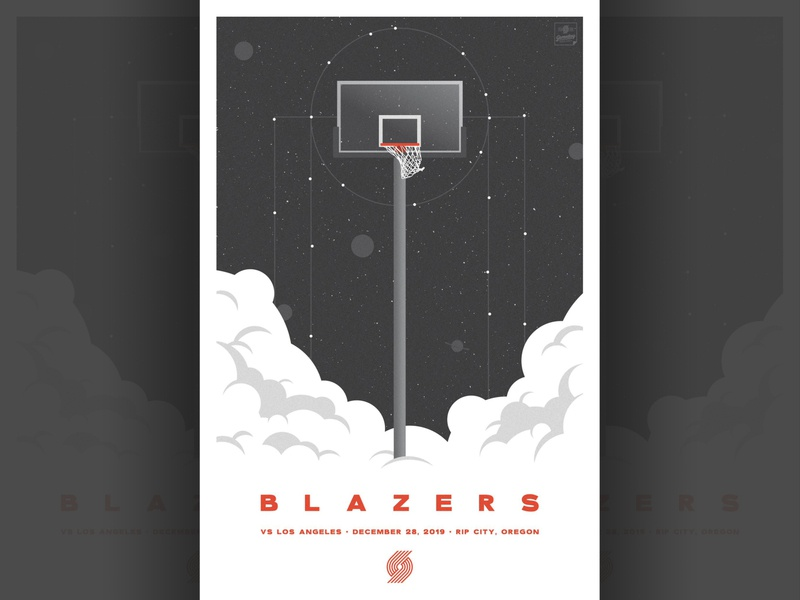 Trail Blazers vs Lakers Poster