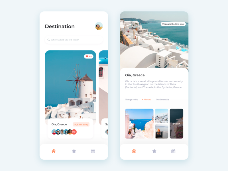 Travel App review destination vacation travel app travel photos blog article white webdesign web appdesign app flat design ux ios dashboard clean ui