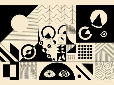 Abstract Pattern minimal imagery geometric illustration raster linework bauhaus line art vector shape procreate pattern negative space illustration grid graphic design geometry geometric abstract art abstraction abstract