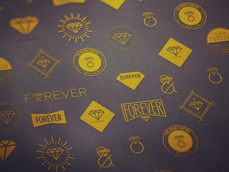 Diamonds are Forever. badges gold texture denim photoshop magic ampersand hipster love diamonds proposal