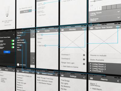 Philips Hue + iBeacons Concept Wireframe philips hue ibeacons the future home automation concept wireframes