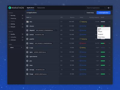 Marathon UI Update update dope icon health status table applications mesosphere ui marathon